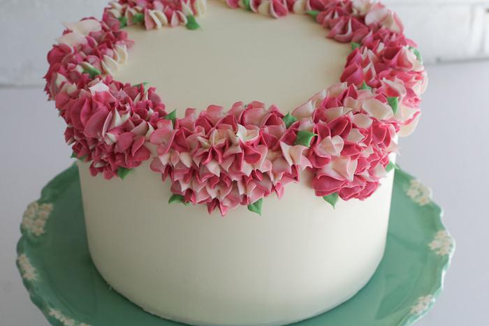 Цветы на тортах