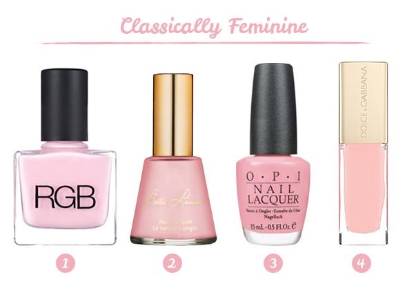 classic pink nail polish