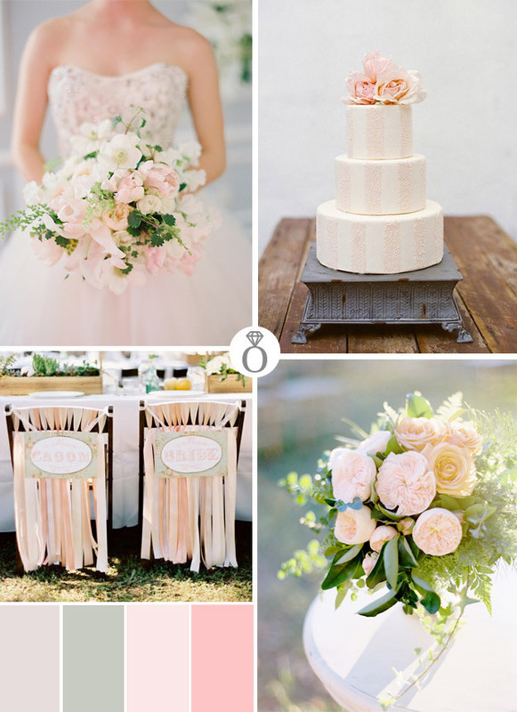 pink wedding color palettes