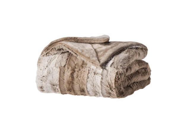 target faux fur throw