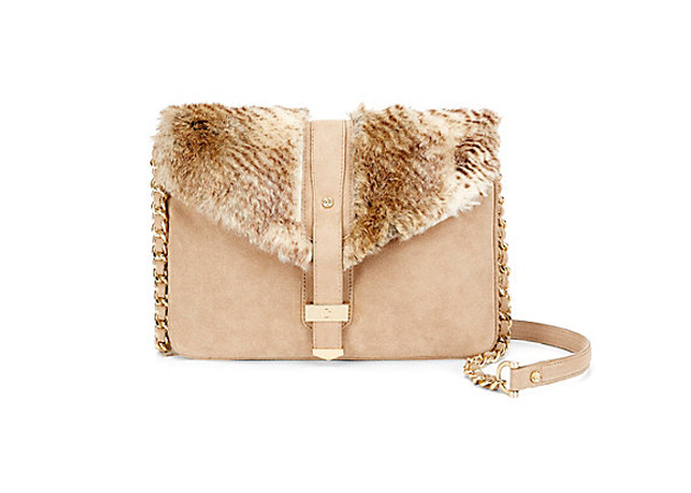 sude and faux fur purse c. wonder