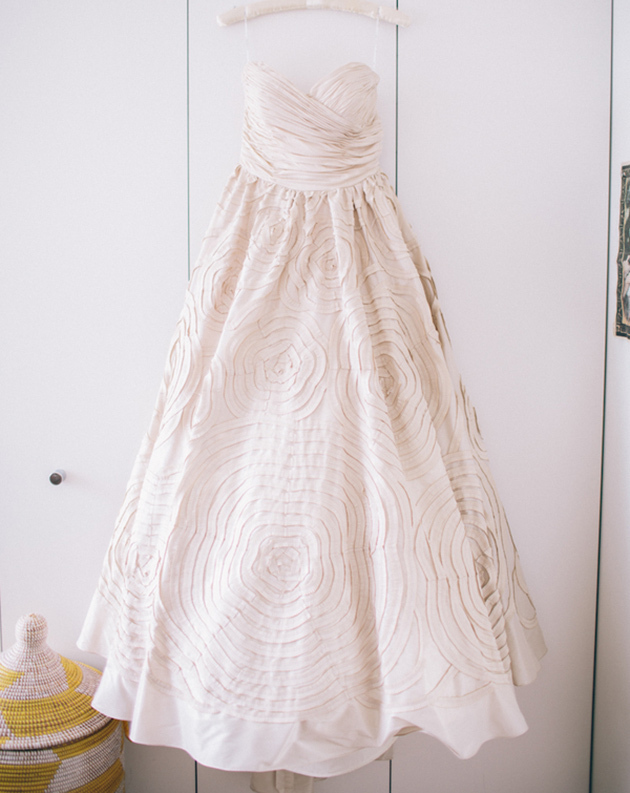 Watters cream wedding dress