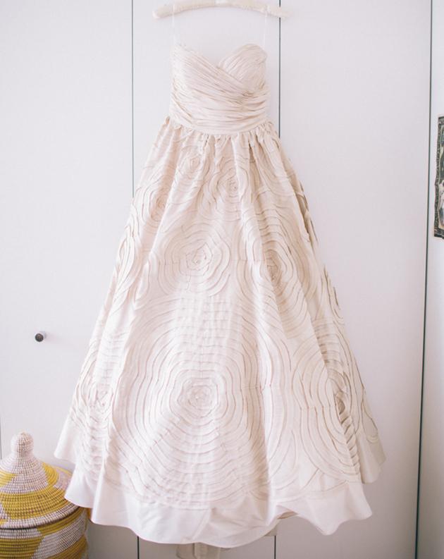Watters cream wedding dress