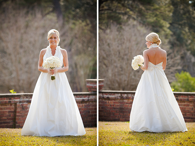 preppy halter wedding dress