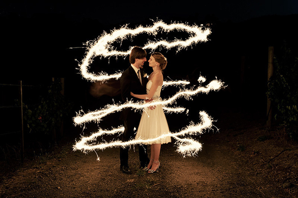 wedding sparkler send off