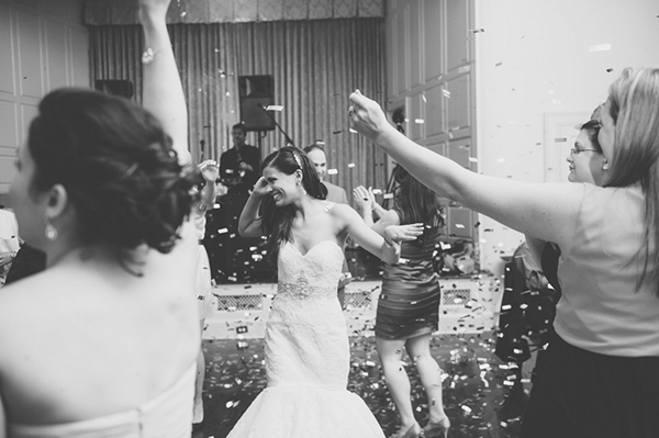 confetti on the dance floor