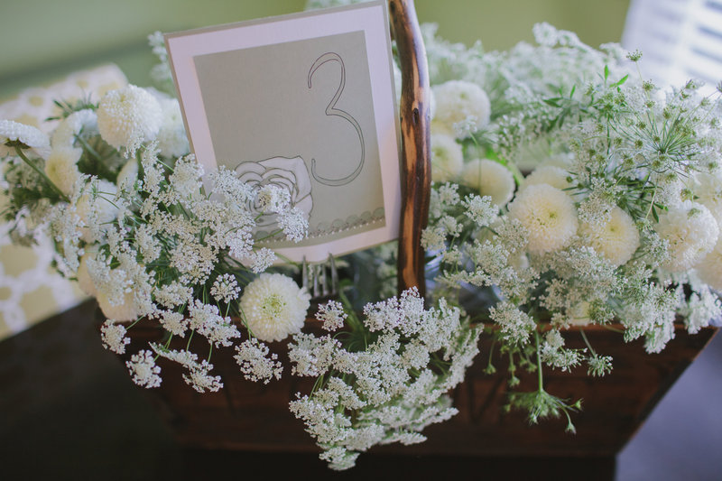 DIY White Mum Centerpiece