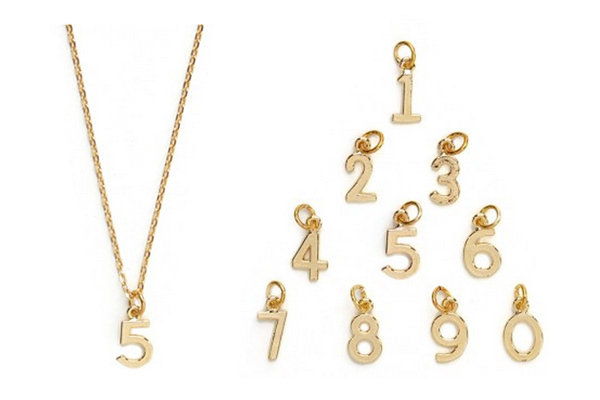 baublebar number pendant necklace