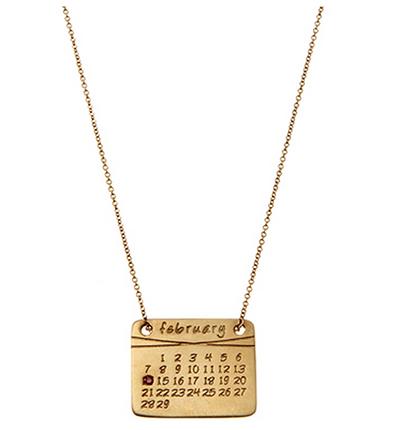 della nonna calendar necklace
