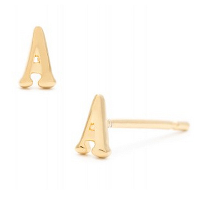 gorjana initital stud earrings