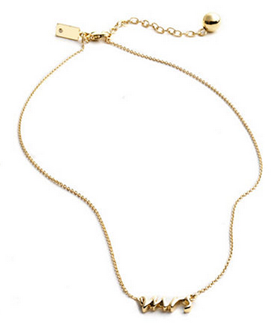 kate spade mrs necklace