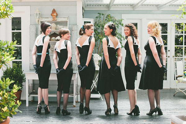 pin up bridesmaids