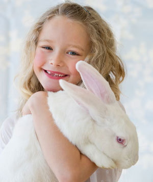 Girl With Big White Rabbit