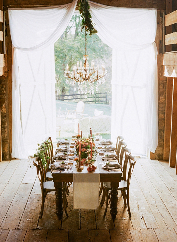 intimate dinner table