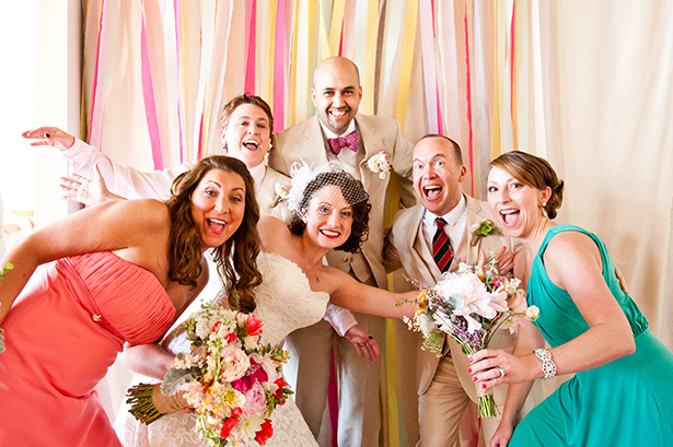 streamer ribbon photo booth backdrop