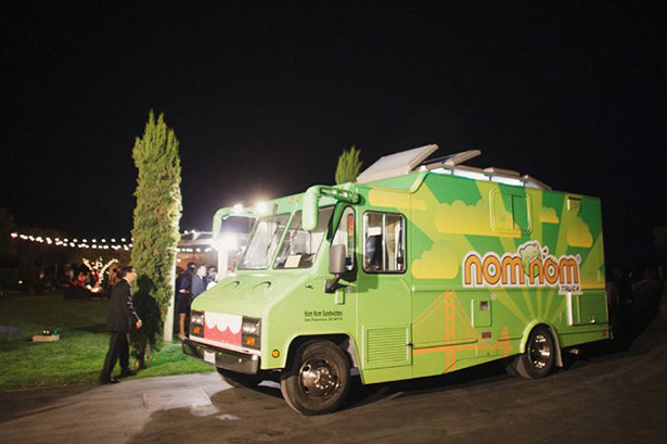 food truck at wedding