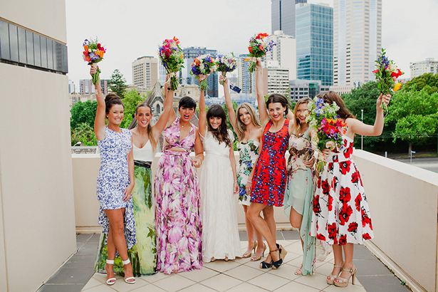 tropical floral bridesmaid dresses