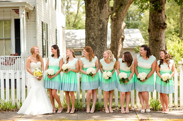 colorblocked bridesmaid dresses