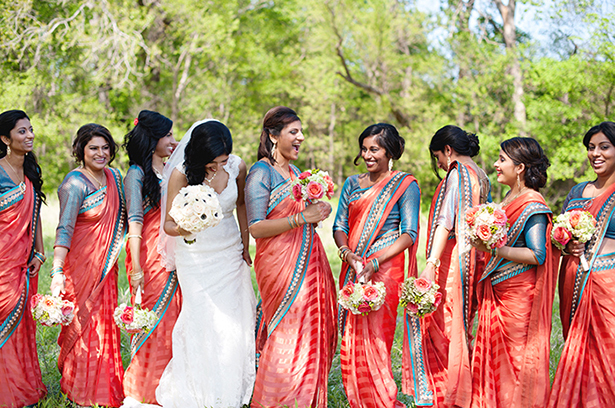 sari bridesmaid dresses