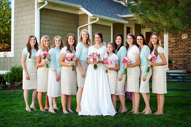 bridesmaid dresses wearing skirts