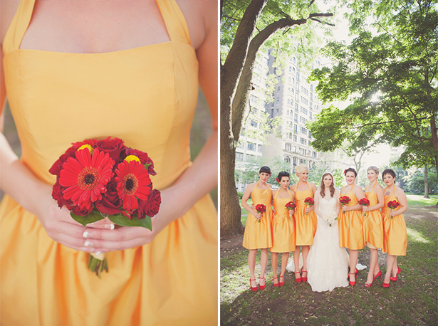 citrine bridesmaid dresses