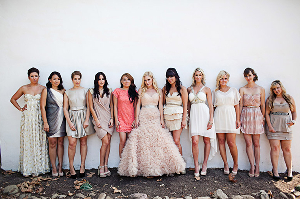 multi color bridesmaid dresses