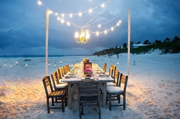 cozy beachside dinner