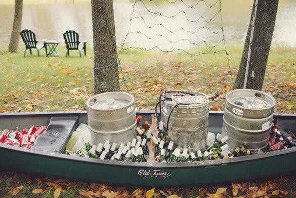 keg in a canoe