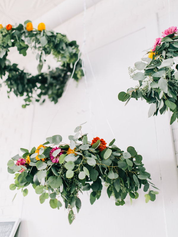 Diy Flower Chandelier Project Wedding