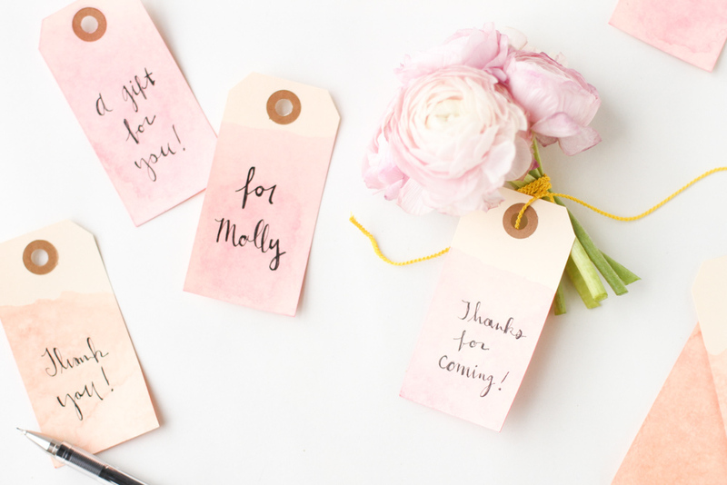 Wedding Gift Tag Maker : Heres how to make your own dip dyed gift tags with watercolor paints ...
